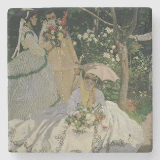 Dessous-de-verre En Pierre Femmes de Claude Monet   dans le jardin