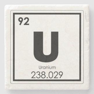 Dessous-de-verre En Pierre Formule en uranium de chimie de symbole d'élément