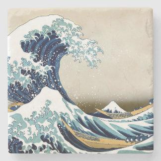 Dessous-de-verre En Pierre Grande vague reconstituée outre de Kanagawa par