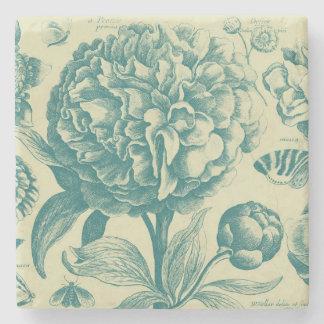 Dessous-de-verre En Pierre Gravure à l'eau-forte florales