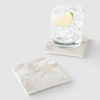 Dessous-de-verre En Pierre Gris crème en ivoire beige en pierre de marbre