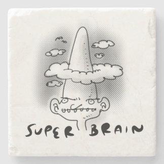 Dessous-de-verre En Pierre illustration drôle de cerveau de style superbe de