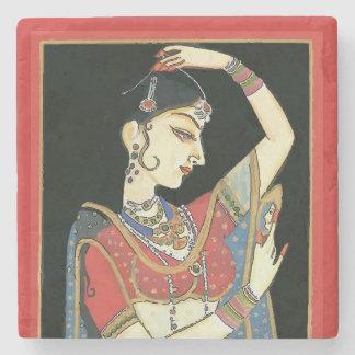 Dessous-de-verre En Pierre Indien, femme de Mughal, princesse