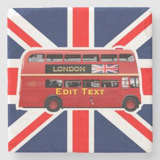 Dessous-de-verre En Pierre L'autobus à impériale rouge de Londres