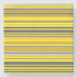 Dessous-de-verre En Pierre Lignes/motif jaunes et gris de rayures