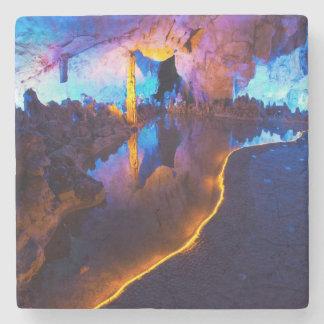 Dessous-de-verre En Pierre Lumières en caverne tubulaire de cannelure, Chine