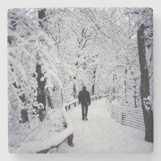 Dessous-de-verre En Pierre Marche au pays des merveilles d'hiver