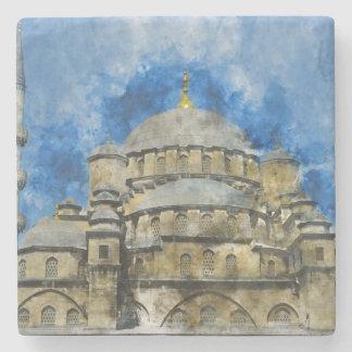 Dessous-de-verre En Pierre Mosquée bleue à Istanbul Turquie