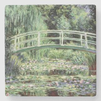 Dessous-de-verre En Pierre Nénuphars de blanc de Claude Monet  , 1899