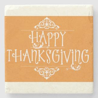 Dessous-de-verre En Pierre Orange de manuscrit de bon thanksgiving
