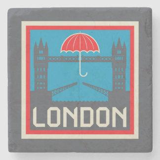 Dessous-de-verre En Pierre Pont de Londres avec le parapluie