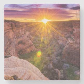 Dessous-de-verre En Pierre Rayon de soleil chez Canyon de Chelly, AZ