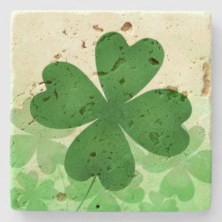 Dessous-de-verre En Pierre Shamrock de Jour de la Saint Patrick