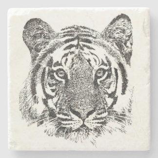 Dessous-de-verre En Pierre Tigre noir et blanc