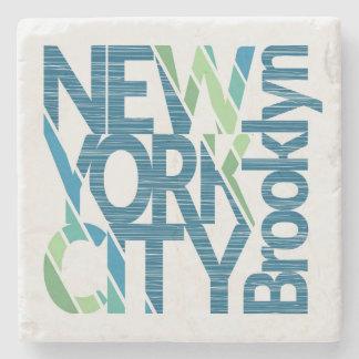 Dessous-de-verre En Pierre Typographie de Brooklyn New York