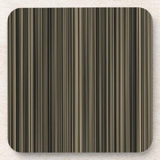 Dessous-de-verre Ensemble de rayure de taupe beige de Brown rétro