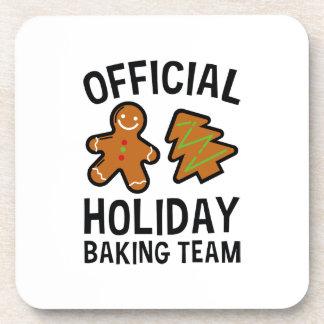 Dessous-de-verre Équipe de cuisson de vacances officielles