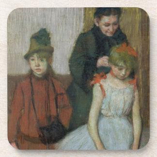 Dessous-de-verre Femme d'Edgar Degas | avec deux petites filles