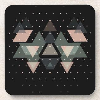 Dessous-de-verre Formes géométriques en pastel sur le noir