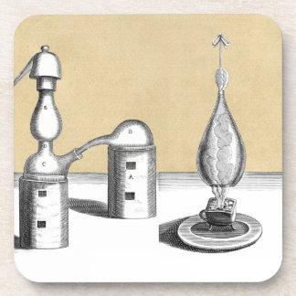 Dessous-de-verre Four d'alchimie d'Athanor et flacon d'alambic