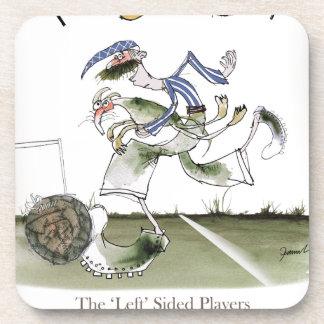 Dessous-de-verre gauche du football, kit blanc bleu