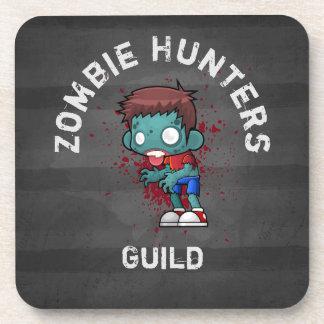Dessous-de-verre Guilde de chasseurs de zombi avec l'éclaboussure