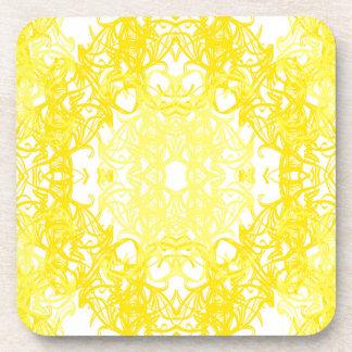dessous de verre jaune