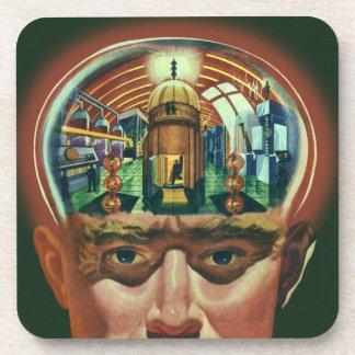 Dessous-de-verre La science-fiction vintage, cerveau étranger dans