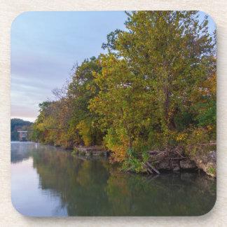 Dessous-de-verre Lac Springfield morning d'automne
