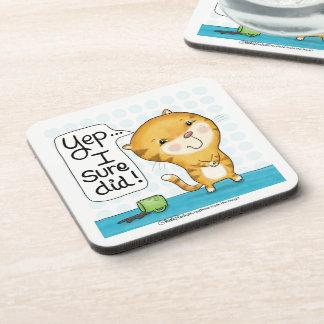 Dessous-de-verre Le chat de Cattitude- renverse le café