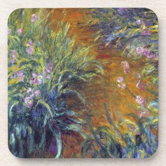 Dessous-de-verre Le chemin à travers les iris par Claude Monet