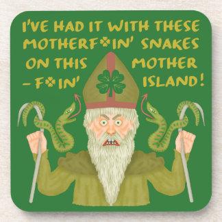 Dessous-de-verre Le jour drôle de Patrick de saint serpente les