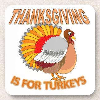 Dessous-de-verre Le thanksgiving est pour des dindes
