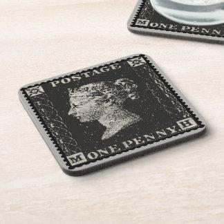 Dessous-de-verre Le timbre-poste de noir de penny