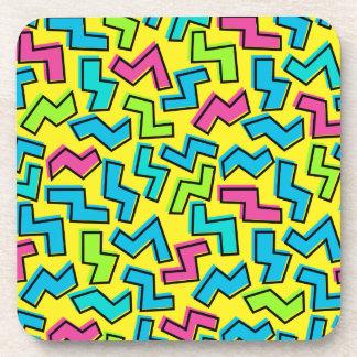 Dessous-de-verre les années 80/motif au néon des années 90 rétro