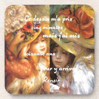 Dessous-de-verre Les peintures de Renoir est abondance de l'amour
