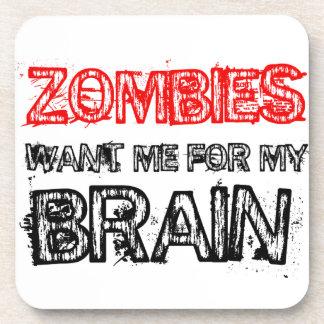 Dessous-de-verre les zombis me veulent pour mon cerveau