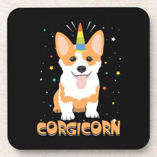 Dessous-de-verre Licorne de corgi - Corgicorn - bande dessinée