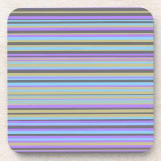 Dessous-de-verre Lignes pourpres, beiges, grises et bleues