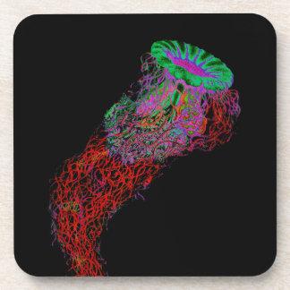 Dessous-de-verre Méduses dans les couleurs au néon
