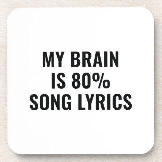 Dessous-de-verre Mon cerveau est des textes de chanson de 80 pour