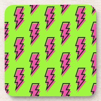 Dessous-de-verre motif vert des années 80/années 90 et rose au néon