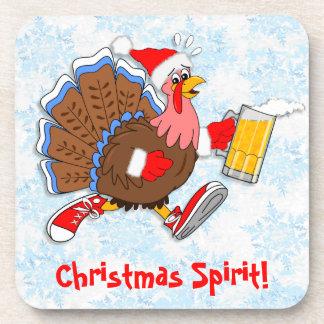 Dessous-de-verre Noël Turquie pompette (bière)