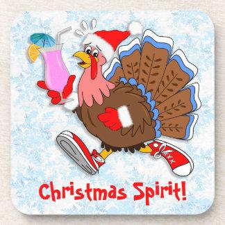 Dessous-de-verre Noël Turquie pompette (cocktail)