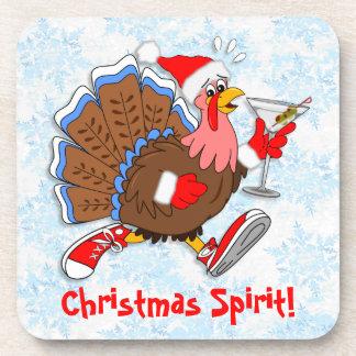 Dessous-de-verre Noël Turquie pompette (Martini)