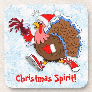 Dessous-de-verre Noël Turquie pompette (vin)