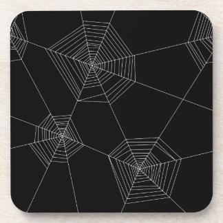 Dessous de verre noirs de toiles d'araignée