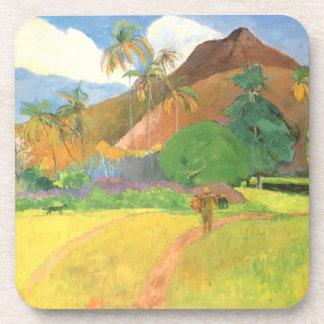Dessous-de-verre Paysage de Tahitian, montagnes Tahiti, Paul