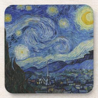 Dessous-de-verre Peinture de Vincent van Gogh de nuit étoilée