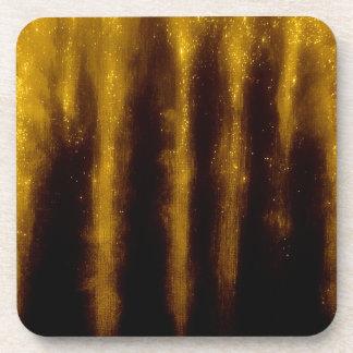Dessous-de-verre Peinture et parties scintillantes d'or de Faux sur